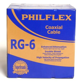 Philflex Coaxial Cable RG-6 300M/Roll (Black)