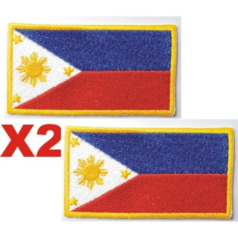 Philippines Pilipinas Flag Souvenir Cloth Embroidered Patch Set(Get 2)