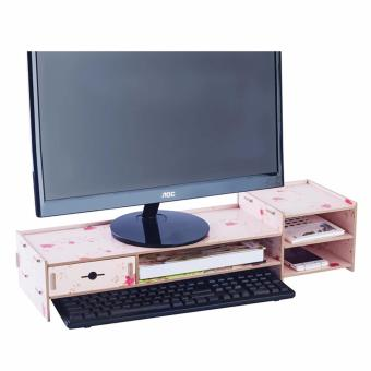 Phoebe's DIY Wooden Monitor Stand Riser with Laptop Cellphone TVPrinter Stand Desktop Container Organizer XY01 - (Autumn)