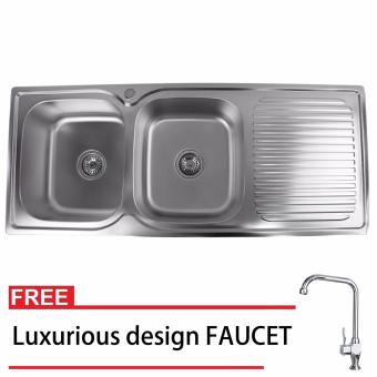 Phoenixhub 120x50x22 Durable and High quality Stainless steelkitchen sink SET FREE Luxurious design FAUCET