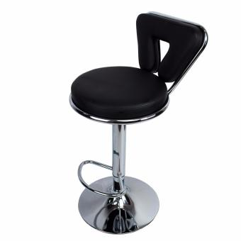 Phoenixhub Adjustable height HIGH Quality and Very Durable BarStool High chair BLACK - 3