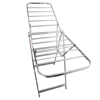 PhoenixHub High Quality 163cm Foldable Stainless Steel Clothes Drying Rack (Silver) - 2