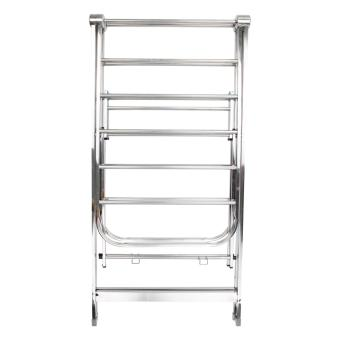 PhoenixHub High Quality 163cm Foldable Stainless Steel Clothes Drying Rack (Silver) - 4