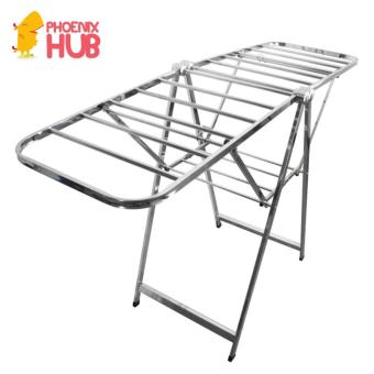PhoenixHub High Quality 176cm Foldable Stainless Steel Clothes Drying Rack (Silver)
