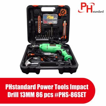 PHstandard Power Tools Impact Drill 13MM 86 pcs #PHS-86SET Price Philippines