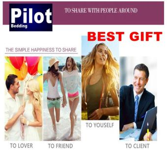 Pilot Bedding PL001 New Arrival 4 in 1 Plain Color Skin-Friendly Soft and Comfortable Cotton Symphony Style Best Wedding Gift Bedding Suit - 4