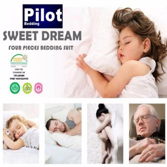 Pilot Bedding PL001 New Arrival 4 in 1 Plain Color Skin-Friendly Soft and Comfortable Cotton Symphony Style Best Wedding Gift Bedding Suit - 3
