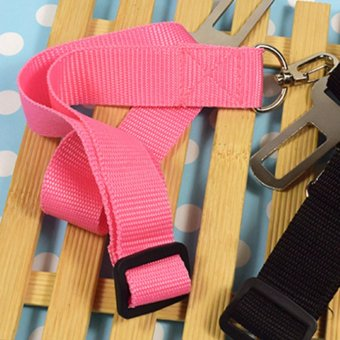 Pink Dog Pet Safety Seatbelt for Car Seat Belt Adjustable HarnessLead Orange - Intl - intl
