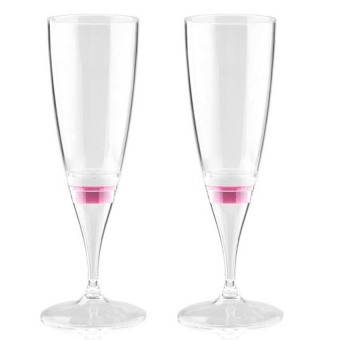Pink Light LED Champagne Glass Set Of 2 (Intl) - picture 2