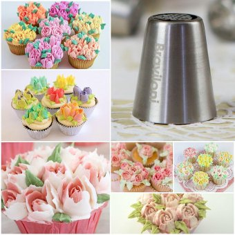 Piping Tips Cake Baking Supplies Decorating Set - 30 Icing Nozzles Extra Large Decoration Kit - Best Kitchen Gift - intl - 3