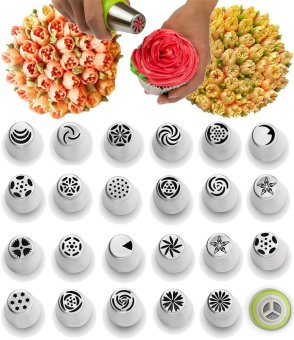 Piping Tips Cake Baking Supplies Decorating Set - 30 Icing Nozzles Extra Large Decoration Kit - Best Kitchen Gift - intl