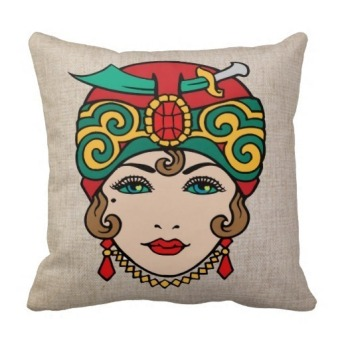 Pirate Girl One Side Printing Pillow Case Cover - picture 2