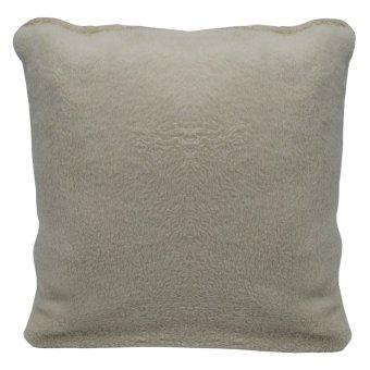 Plain Cotton Throw Pillow Case Cover (Dirty White) Set of 3 - 2