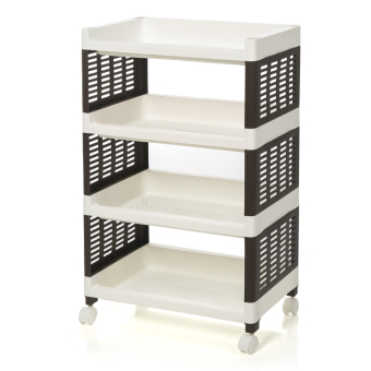 Plastic basket multi-layer storage rack kitchen shelf