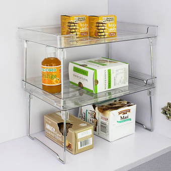 Plastic cabinet layered can be organizing rack kitchen shelf