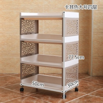 Plastic kitchen bathroom storage rack shelf