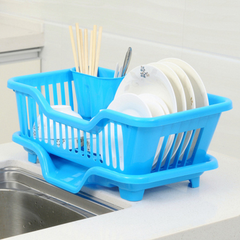 Plastic kitchen small pieces appliances cupboard dish rack
