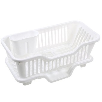 Plastic Plate cutlery dishes storage rack dish rack kitchen shelf