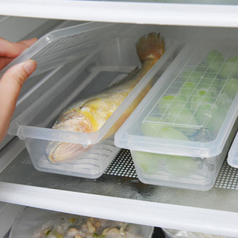Plastic rectangular refrigerator refrigerated storage box freshness box