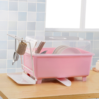 Plastic with cover kitchen dishes dish rack cupboard