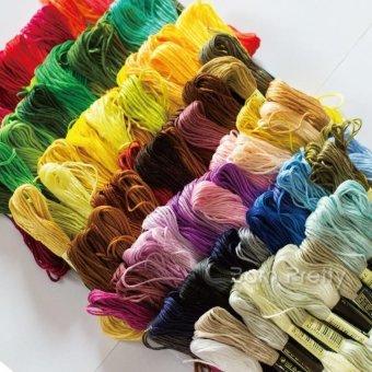 PLATIM 50 Threads/Set Dmc Floss Skein Cross Stitch Threads Embroiderysewing (Random Color ) - 2