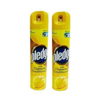Pledge w/ Cleansing Conditioners Lemon 330ml 2's (Yellow) 056728W38 Price Philippines