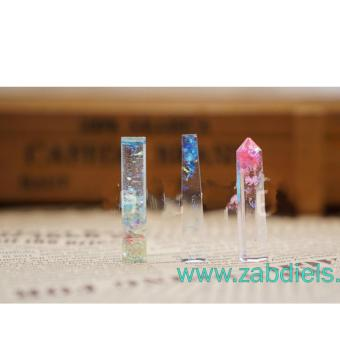 Pointy Crystal 1 Triangular Tube Gem Pendant Silicone Mold