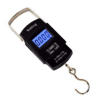 Portable 50kg/5g LCD Digital Fish Hanging Luggage Weight ElectronicHook Scale