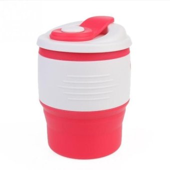 Portable Collapsible Flexible Silicone Coffee Cup Foldable WaterBottles Eco-Friendly Leakproof Silicone Travel Mugs