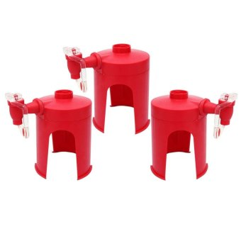 Portable Desktop Fizz Saver Soda Beverage Dispenser, Set of 3 (Red)