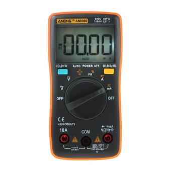 Portable Digital Multimeter 4000 Counts Auto Range Ammeter - intl