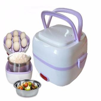 Portable Electric Lunch Box Cooker (Violet) Price Philippines