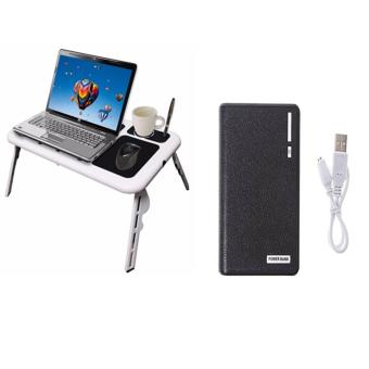 Portable Foldable Laptop E-Table With Cooling Fan With 20000mahWaleet Style Power Bank