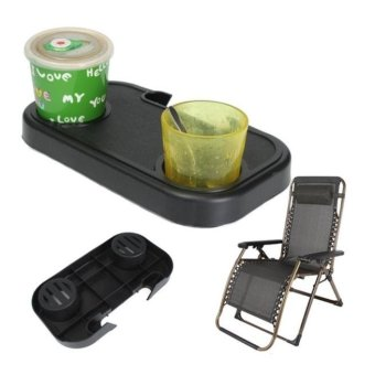Portable Folding Camping Picnic Outdoor Beach Garden Chair Side Tray For Drink - intl