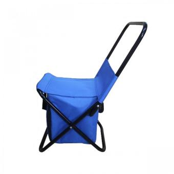 Portable Folding Chair with Storage Bag (Blue)