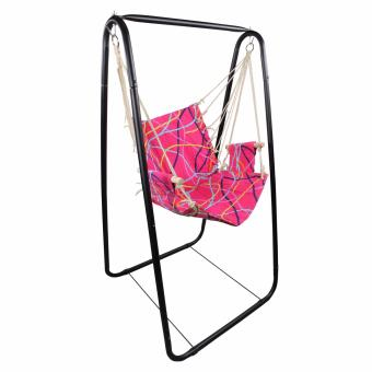 Portable Indoor and Outdoor Relaxing Swing Chair (Pink)
