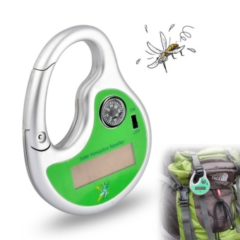 Portable Mosquito Insect Killer Mosquito Insect Killer Mosquito Repeller Hook Type Solar Ultrasonic with Compass - intl