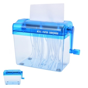 Portable Paper Shredder Office Cross Cut Mini A4 Manual Hand PaperWidth - intl
