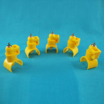 Portable Saddle Style Poultry Water Drinking Nipple Drinker forChicken /Turkey /Geese /Duck - 100 pcs/set Yellow - 4