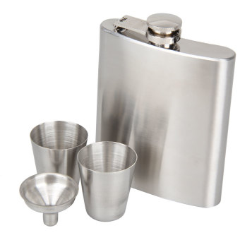 Portable Stainless Steel 7oz Hip Flask Flagon Whiskey Wine PotBottle Gift