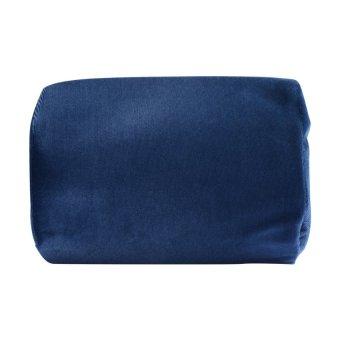 posture med lumbar support pillow navy blue