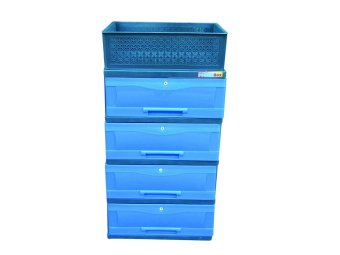 Power Box Chest Drawer D.288-4L(Blue)