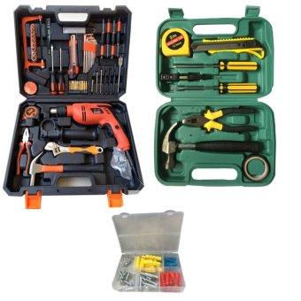 Power Hammer Impact Drill-DIY Set With free Screws (50 pcs) WithGift Tools Set 9 Pcs And Screws