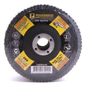 PowerHouse 52-502 A-60 Flap Disc Premium 5-piece Set Black - picture 2