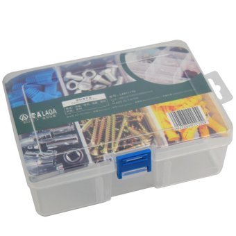 PP 6 grids Multifunctional parts storage boxlattice adjustable toolbox / components box / parts box Price Philippines