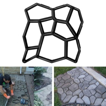 Practical Paving Concrete Mold Pavement Brick Patio Slabs Making Tool (Black) - intl