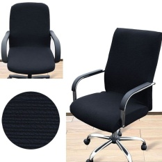 premier qual easy change chaircover comfortable stretchy office computer armchair seat swivel chair cover slipcover s size intl