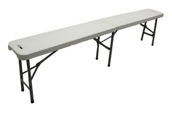 Primetime 6 Ft. Fold In Half Banquet Bench (Pure White)