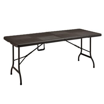 Primetime Premium 6 Ft. Rectangular Folding Multi-purpose PlasticWood Look Table