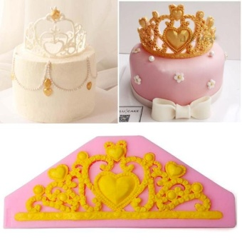 Princess Crown Silicone Fondant Cake Decor Chocolate Baking Tool Mould - intl